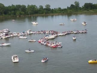 Party Cove on Lewisville Lake