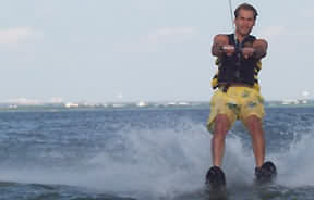 waterskiing on Lake Lewisville